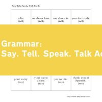 Say, Tell, Speak, Talk Activity