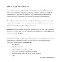 ESL Through Music Project