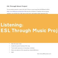 ESL Through Music Project