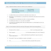 Business Idioms 9: Communication