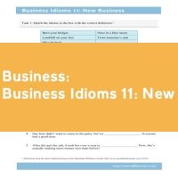 Business Idioms 11: New Business