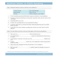 Business Idioms 13: Public Speaking