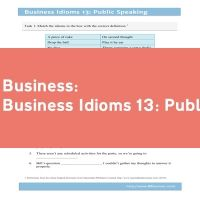 Business Idioms 13: Public Speaking