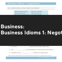 Business Idioms 1: Negotiation