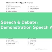 Demonstration Speech Assignment
