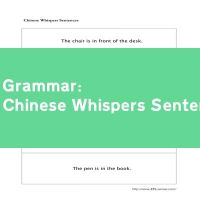 Chinese Whispers Sentences