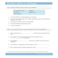 Business Idioms 5: Challenges