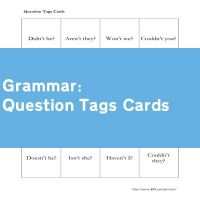 Question Tags Cards