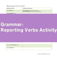 Reporting Verbs Activity