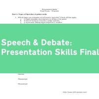 Presentation Skills Final Exam