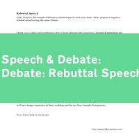 Debate: Rebuttal Speech