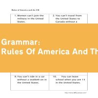 Rules Of America And The UK