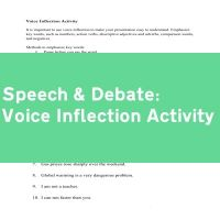 Voice Inflection Activity