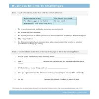 Business Idioms 6: Challenges