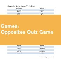 Opposites Quiz Game