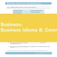 Business Idioms 8: Communication