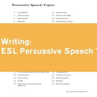 ESL Persuasive Speech Topics
