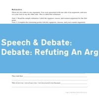 Debate: Refuting An Argument