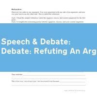 Debate: Refuting An Argument
