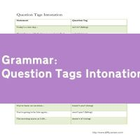 Question Tags Intonation