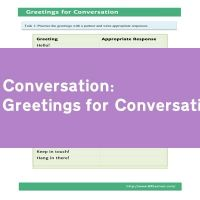 Greetings for Conversation