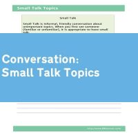 Small Talk Topics