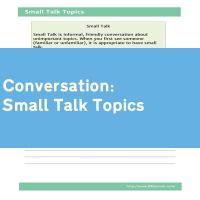 Small Talk Topics