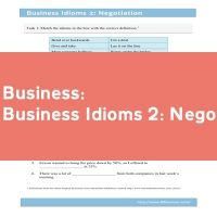 Business Idioms 2: Negotiation