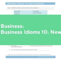 Business Idioms 10: New Employee