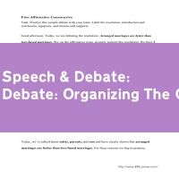 Debate: Organizing The Opinion
