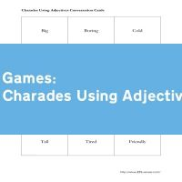 Charades Using Adjectives