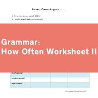 How Often Worksheet II