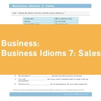 Business Idioms 7: Sales