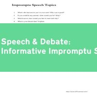 Informative Impromptu Speech