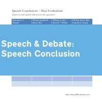Speech Conclusion