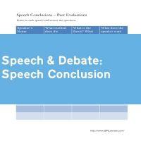 Speech Conclusion