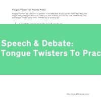 Tongue Twisters To Practice Voice